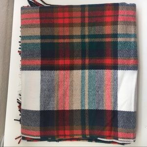 NWT Jcrew Plaid flannel winter cozy scarf red